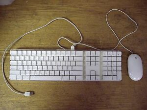 apple mac white usb wired keyboard mighty mouse imac g3 g4 g5 emac a1048 a1152 718908497180 ebay. Black Bedroom Furniture Sets. Home Design Ideas