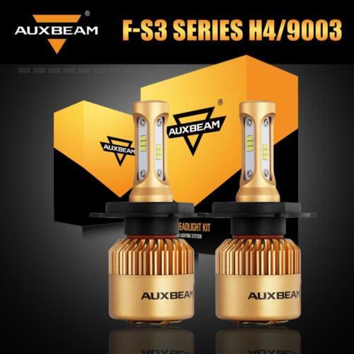 Auxbeam CSP 3-Side LED Headlight Kit H4 HB2 9003 High Low Beam 6500K Bulbs White
