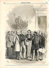 Assemblée nationale Chambre des Députés Laocoon Laocoonte 1869 ANTIQUE PRINT