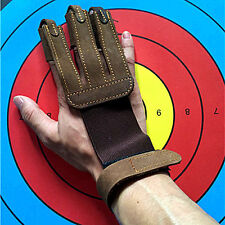 Archery Finger Hand Protective Glove Draw Bow Arm Guard Arrow Shooting Gloves