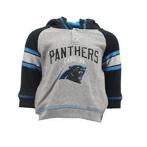 separation shoes c61ff ddcea Details about Carolina Panthers NFL Baby Infant Size Distressed Hooded  Sweatshirt New Tags