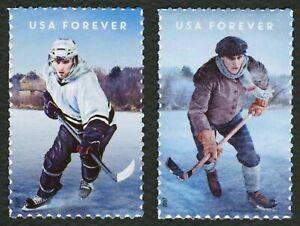 #5252-5253 History Of Hielo Hockey, Individuales, Nuevo Cualquier 5=
