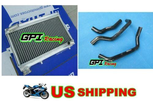 GPI Aluminum Radiator /& black hose Honda TRX250 TRX250R TRX 250R 1987 87 1986 86