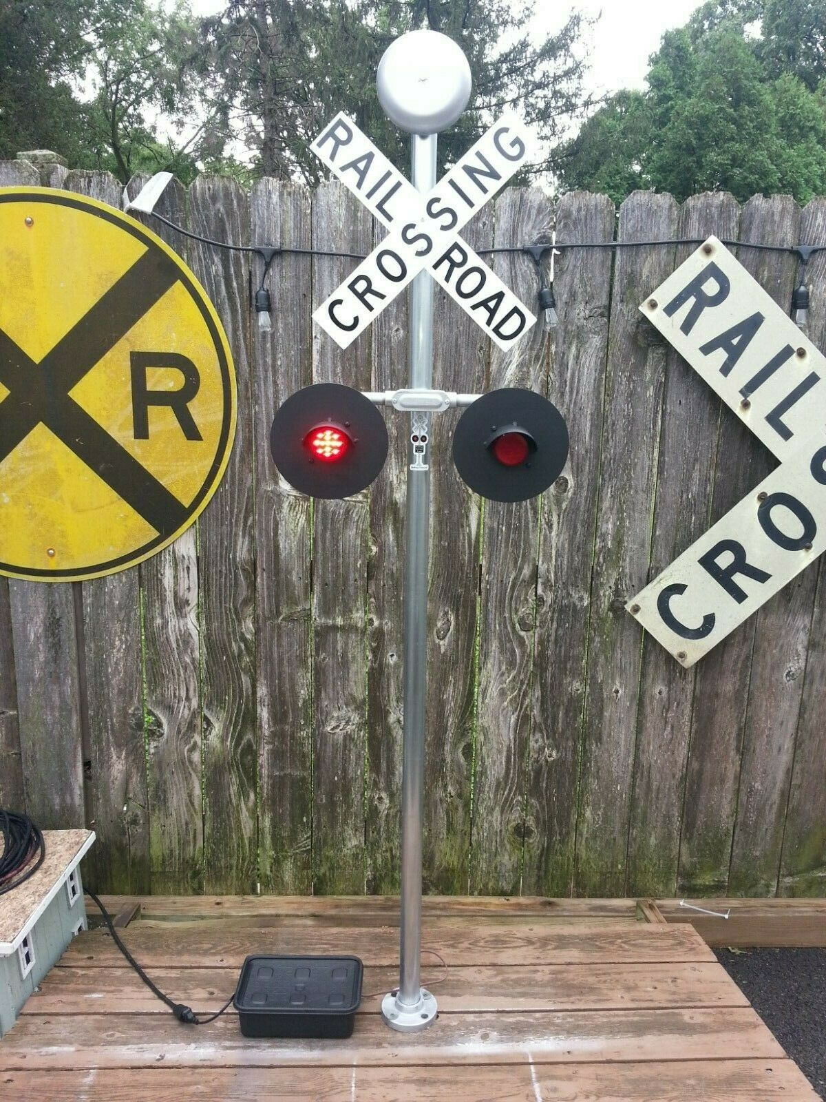 TRAIN Railroad Crossing WIRELESS REMOTE RxR LED-BELL 5-DAYS ONLY