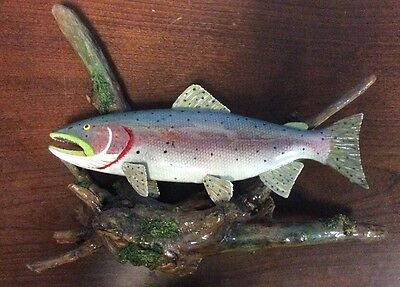 Thomas G George 2007 Handcrafted Wood Painted Fish Wall Art FoundArtShop.com