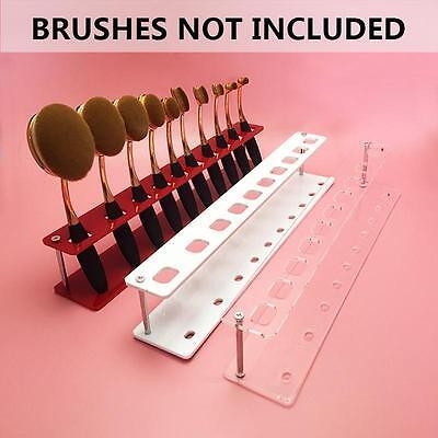 Cosmetic Makeup Brush Holder FOR 10pcs Toothbrush Foundation Brush Shelf 3 Color