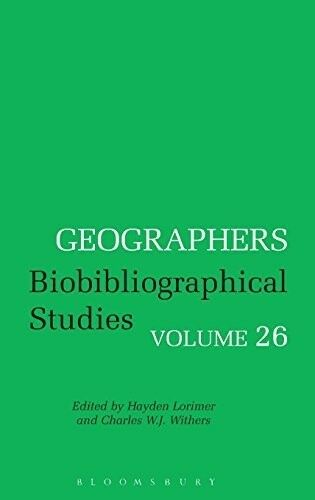 Geographers: Biobibliographical Studies: 26, Very Good Books