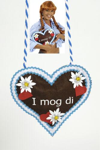 Wiesn Oktoberfest Herz Hand Tasche Edelweiß Dirndl  i MOG DI