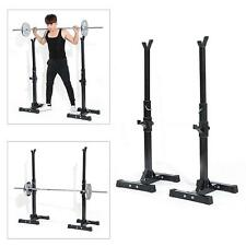 Strength Power Lifting Rack Squat Bench Deadlift Curl Pull Up Weight Stand O2I0