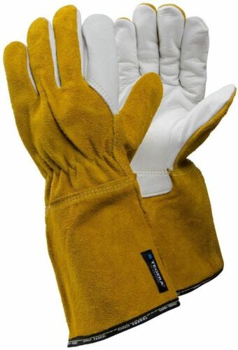 TEGERA 8 Leather Full Grain Cowhide Palm Heat Resistant Tig Welding Work Gloves
