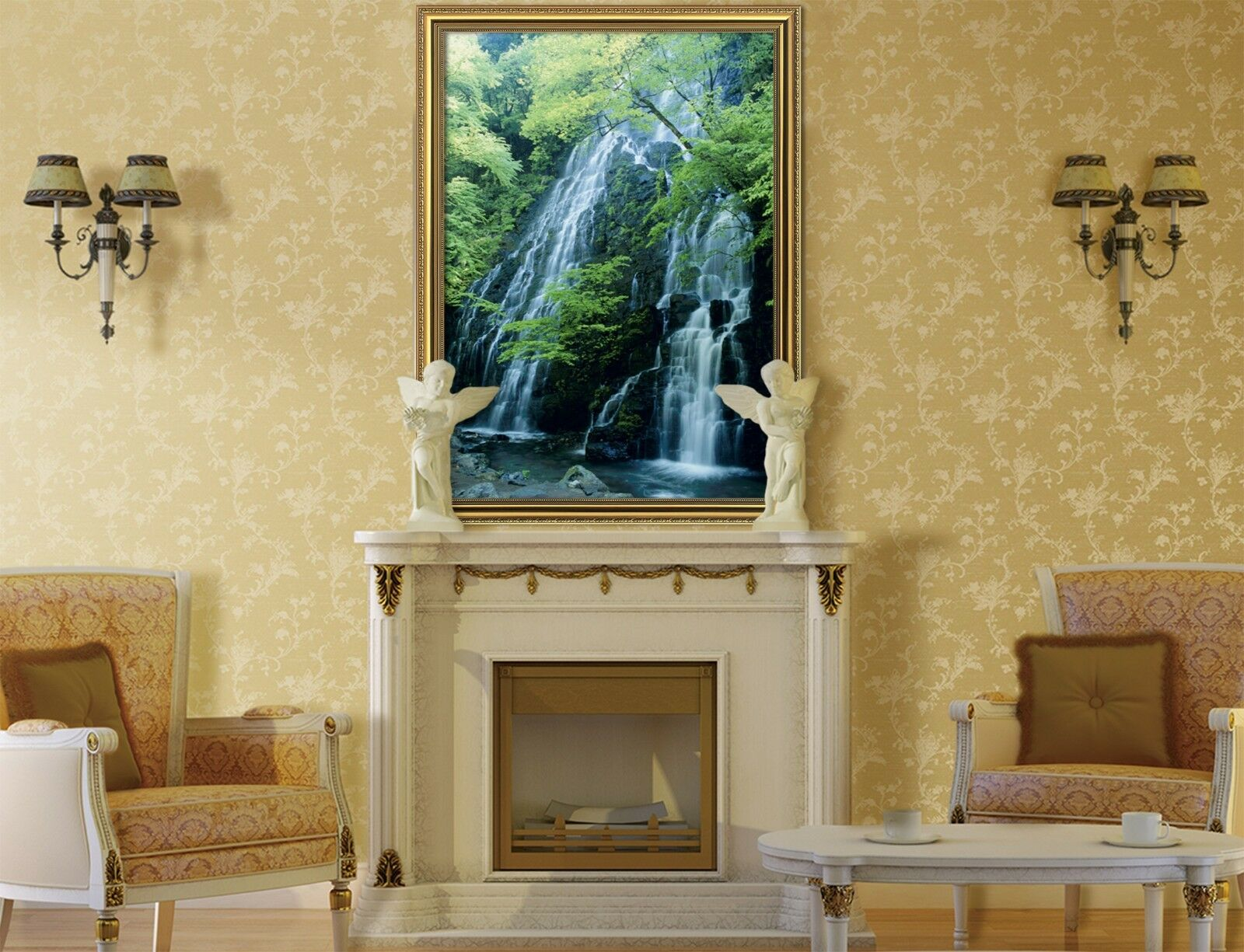 3D Bosque agua de río 51 Enmarcado Cartel Decoración del Hogar Pintura de Impresión Arte AJ