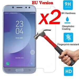 2x-9H-Tempered-Glass-Film-Screen-Protector-For-Samsung-Galaxy-J3-J5-J7-Pro-2017