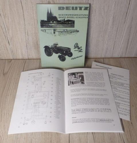 Bedienungsanleitung Deutz Schlepper Traktor D40L D40.2 H-1136-1