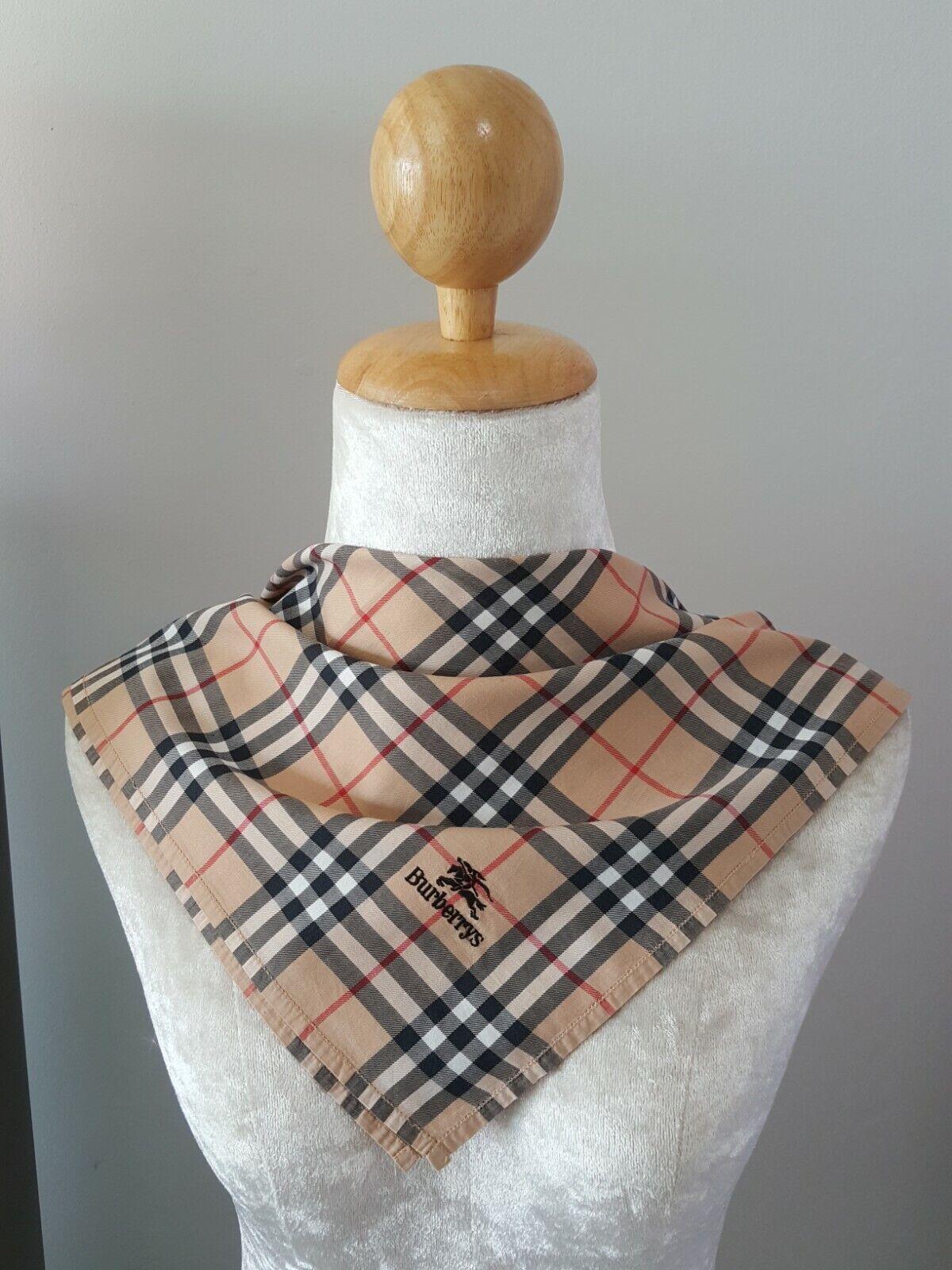 BurberryUnisex Beige Signature Plaid Checks Cotton Square Handkerchief 18