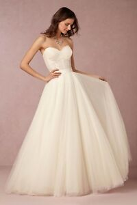 5f8ff3914e95 NWT Two Piece Ivory Wedding Dress Watters BHLDN Carina Corset Amora ...