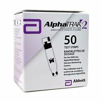 Alphatrak 2 Blood Glucose Test Strips 50 Count Free Shipping
