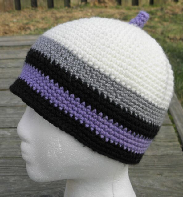 Multicolor Stripe Boys/Girls Beanie with an Antenna - Handmade by Michaela