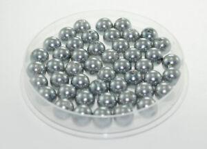 Lot-10-Perle-imitation-10mm-Gris-perle-de-culture-creation-Bijoux-Collier