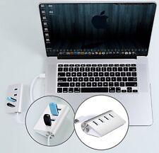 Aluminum USB 3.0 Hub 5Gbps for MacBook Mac Pro iMac PC Notebook Desktop