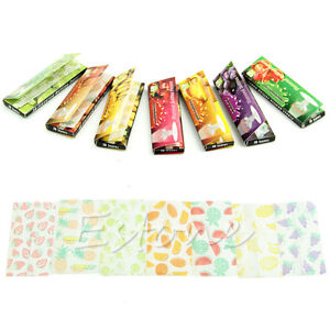 Fruit-Flavored-Cigarette-Smoking-50-Leaves-Perfect-Match-Tobacco-Rolling-Papers