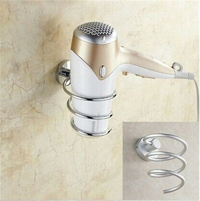 Salon Spiral Wall Mounted Hair Dryer Holder Stylist Tool Drier Rack Organizer LJ