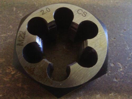 M22 X 2.00 CARBON STEEL HEXAGONAL RE-THREADING DIE
