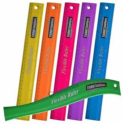 School//Uni. Student Solutions Long Clear Exam Pencil Case 330x120mm 3 Colours