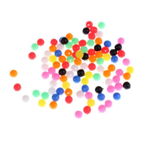 100 Stücke Angeln Perlen Schwimmende Runde Förmig Angelköder Perlen