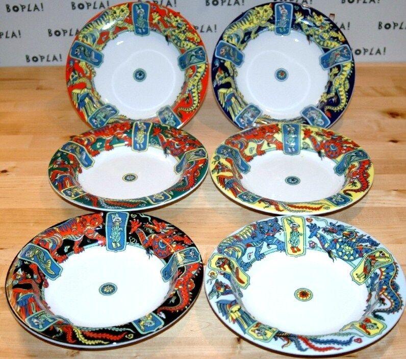 MING BOPLA Porcelain ASIA Serie tiefer Teller 22cm RIM SOUP Deep Plate 8-5 8 in.