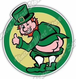 Irish ireland leprechaun butt st patrick day car bumper vinyl image is loading irish ireland leprechaun butt st patrick day car altavistaventures Gallery