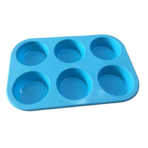 6 Round Silicone Cake Baking Pans Muffin Cups Handmade Soap Mould Soap DIY Molds