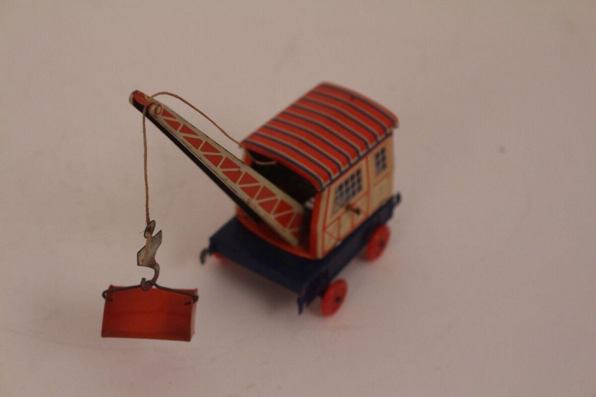 Georg Fischer Mobile Crane Tin Toy Mobile Crane Gf 338 Blechkran with Container