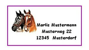 MN127-40-Adressaufkleber-034-Pferdekoepfe-034
