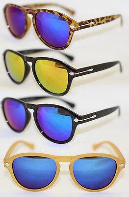 Genossenschaft Retro Sonnenbrille Rund Blau Gold Verspiegelt Damen U. Herren 569 Krankheiten Zu Verhindern Und Zu Heilen