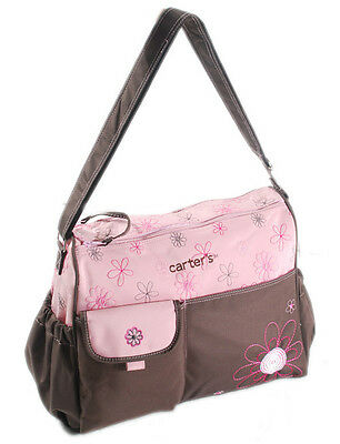 New Carter's Baby Changing Mat Pad Diaper Nappy Bag Mummy Handbag Brown/Pink