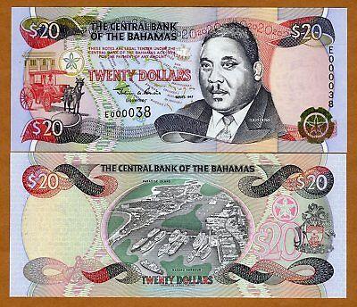 Bahamas P-65 $20 1997 Gem UNC