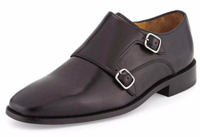 617fb4f9844 Cole Haan Men s Giraldo Double Monk Strap II Black Business Loafer ...