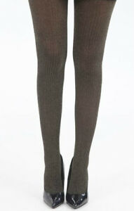 Glitter-Black-Gold-Ribbed-Lurex-Sparkle-Tights-Metallic-Party-Pantyhose-Collant