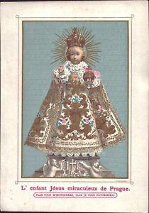 Prag-Jesus-Nino-Cuadro-Santos-Amria-Imagen-Milagrosa-Bohemia-Koloriert-B-6666
