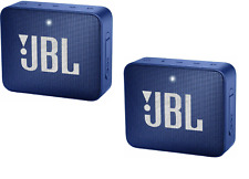 SET OF 2!! JBL Go 2 Portable Bluetooth Speaker - Bue JBLGO2BLUAM