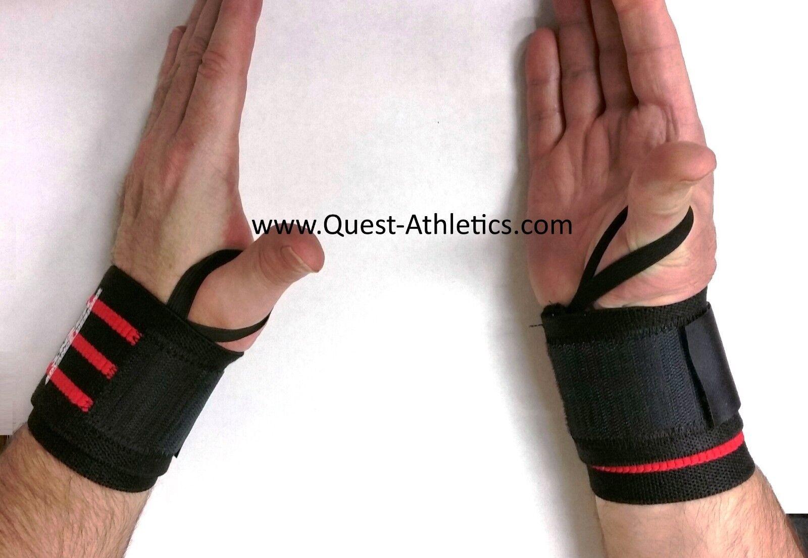 Inzer Iron Z Wrist Wraps 20 - Medium - Powerlifting Weightlifting CrossFit Strength Training Pair