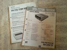sony vph 722qm vph 1020qm color video projector repair manual