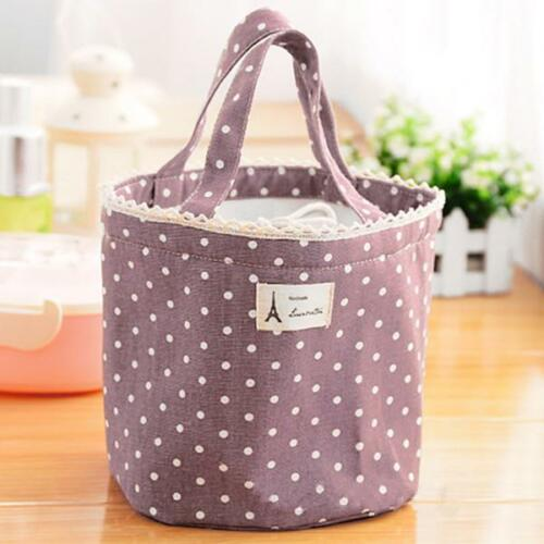Kids Portable Thermal Insulated Lunch Box Container Bento Bag Tote Pouch HO