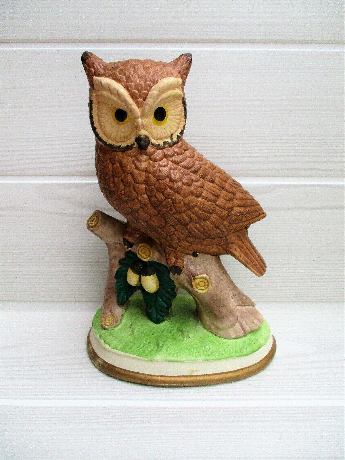 Magnifique grande figurine CHOUETTE   owl