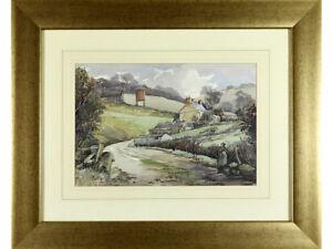 Michael-Crawley-original-watercolour-signed-Derbyshire-Landscape
