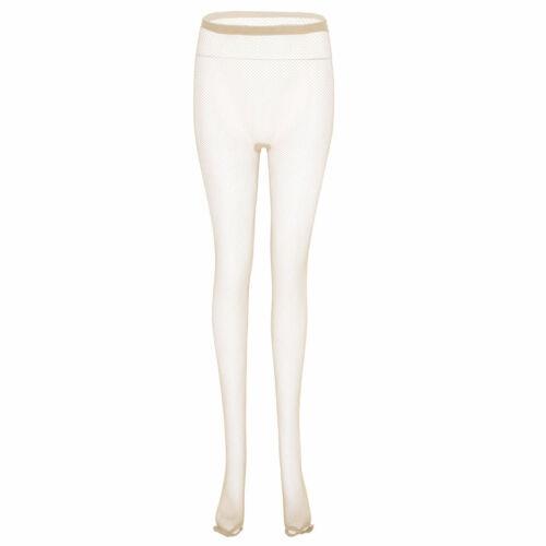 Women Latin Dance Mesh Stockings Open Toe Fishnet Pantyhose Seamless Tights Sock