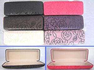 C11-Rectangular-Reading-Glasses-Case-Rose-Pattern-Design-PVC-Faux-Leather-Cover
