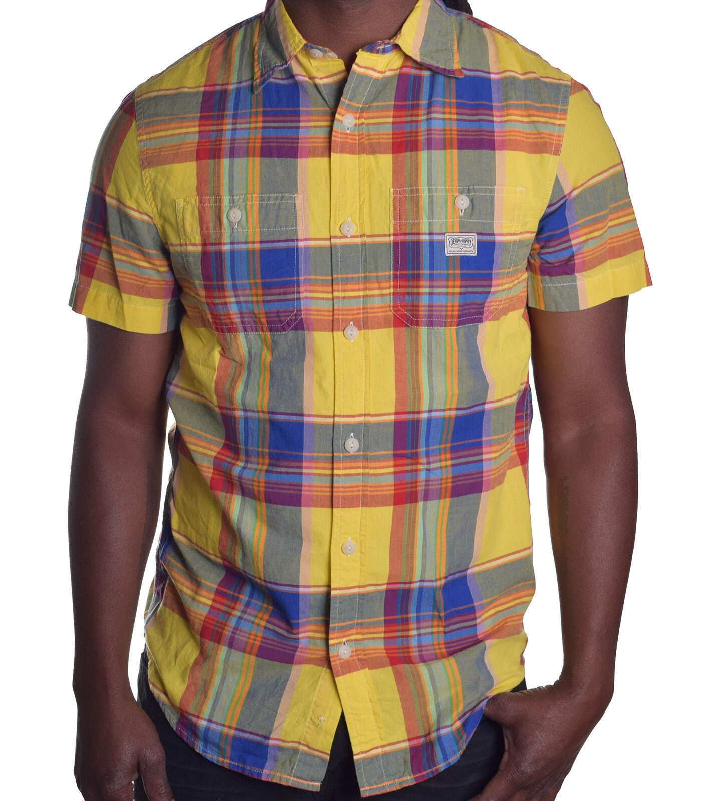 Ralph Lauren Denim & Supply  Multi Yellow Plaid Button Up Shirt Choose Size