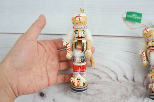 "New Lot of 3 Kurt S Adler 5/"" Gingerbread Nutcracker Ornament Christmas"