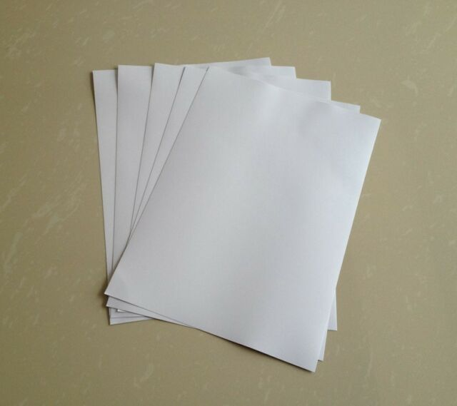 50 Sheets A4 White Self Adhesive Sticker Label Matte Surface Paper Sheet